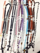20pcs mix lot rosary necklace Religious catholic Crucifix cross wholesale lot