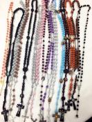 20pcs mix lot rosary necklace Religious catholic Crucifix cross wholesale lot
