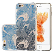 iPhone 6 6s 12cm Case, OneCase Ukiyoe Waves Totem Series TPU Soft Back Cover Protective Case for iPhone 6s/iPhone 6