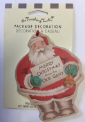 """American Greetings Package Decoration """"Merry Christmas from the Old Gent"""" 2-sided Tag"""
