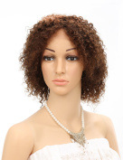 Golden Rule Virgin Brazilian 100% Human Hair Lace Front Wig Glueless Short Bebe Kinky Curl Wig For Women