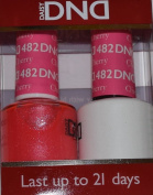 DND Gel & Matching Polish Set #482 - Charming Cherry. Buy 5 any colours get 1 Diamond super fast drying top coat 15ml Free