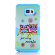 SudmanD Samsung Galaxy Note 5 Shell/Case, Super Hybrid PC and Silicone 2 in 1 Protective Case for Samsung Galaxy Note 5, Sunshine Owls Case for Samsung Galaxy Note 5.