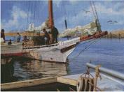 fishing boat cross stitch kits, 14ct, Egypt cotton thread 280x208 stitch, 61x48cm cross stitch kits