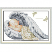 Docooler DIY Handmade Needlework Counted Cross Stitch Set 14CT Little Angel Pattern 51 * 36cm Home Decoration