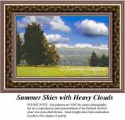 Summer Skies with Heavy Clouds, Landscape Cross Stitch Pattern