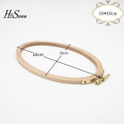 6.3*3.95 Inch Cross Stitch Wooden Embroidery Hoop Ellipse Craft Tool- 16*10cm