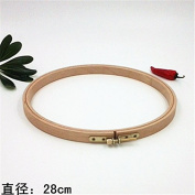 11 Inch Cross Stitch Wooden Embroidery Hoop Circle Craft - 28cm
