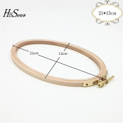 8.27*5.12 Inch Cross Stitch Wooden Embroidery Hoop Oval Craft Tool- 21*13cm