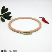 4.9 Inch Cross Stitch Wooden Embroidery Hoop Circle Craft - 12.5cm