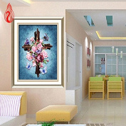 YGS-140 DIY 5D Full Diamonds Mosaic Diamonds Embroidery Jesus Cross Small picture Christian Square Diamond Painting Cross Stitch