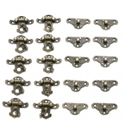 Crqes 10 Pcs box packing buckle antique wooden gift box lock alloy buckle lock 23*28MM