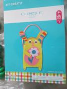 cute yellow bunny basket craft kit