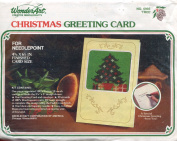 WonderArt Christmas Greeting Card 6993 Tree Needlepoint Kit