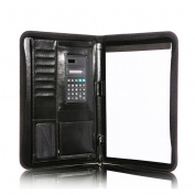 VORCOOL PU Padfolio Portfolio Card holder Files Folder with Solar Calculator