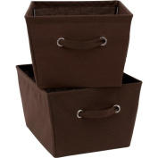 Mainstays Large Canvas Bins, 2-Pack