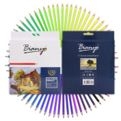Bianyo Soft Core Oil Coloured Pencils Set with 72 Assorted Colours Perfect for Kids, Art School Students, or Professionals.