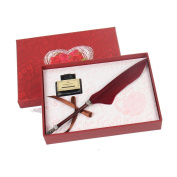 Burgundy Colour Quill Pen In Gift Box