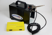 Compressor with airbrush set Badger TC-909 + Harder & Steenbeck Silverline 2in1. by SprayGunner