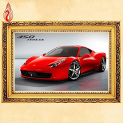 YGS-123 DIY 5D Diamond Embroidery Red Cartoon sports car Round Diamond Painting Cross Stitch Kits Diamond Mosaic Home Decoration