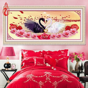 YGS-132 DIY 5D Diamonds Embroidery Love is. gold Swans Round Diamond Painting Cross Stitch Diamond Mosaic Home Décor