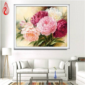 YGS-133 DIY 5D Full Diamonds Embroidery Peony flowers Round Diamond Painting Cross Stitch Kits Diamond Mosaic Home Decoration
