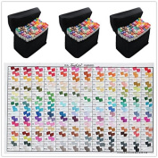 204 Colour SET TOUCH LIIT 6 Alcohol Graphic Art Twin Tip General Pen Marker