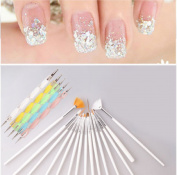 20PCS UV Gel Brush Set : Nail Art UV Gel Design Painting Pen Brush Set for Salon Manicure DIY Tool : Nail Arit Design Pen