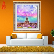 YGS-106 DIY 5D Full Diamond Mosaic Diamonds Embroidery The Eiffel Tower Square Diamond Painting Cross Stitch Kit Home Decoration