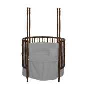 bkb Solid Colour Round Crib Bedding, Grey