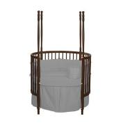 bkb Solid Colour Round Crib Bedding, Grey
