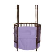 bkb Solid Colour Round Crib Bedding, Lavender
