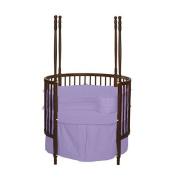 bkb Solid Colour Round Crib Bedding, Lavender