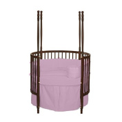 bkb Solid Colour Round Crib Bedding, Pink