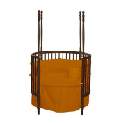 bkb Solid Colour Round Crib Bedding, Orange