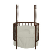 bkb Solid Colour Round Crib Bedding, Ivory