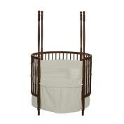 bkb Solid Colour Round Crib Bedding, Ivory