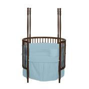 bkb Solid Colour Round Crib Bedding, Blue
