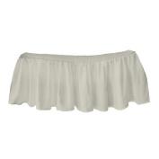 bkb Solid Ruffled Crib Skirt, Ecru