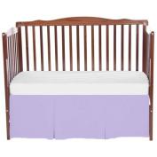 bkb Solid Tailored Mini Crib Skirt, Lavender