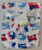 Baby Starters White Baby Blanket Aeroplane Helicopter
