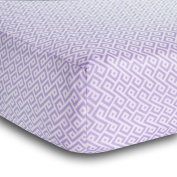 BreathableBaby Diamond Design Fitted Crib Sheet, Lavender
