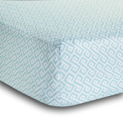 BreathableBaby Diamond Design Fitted Crib Sheet, Seafoam