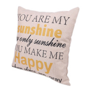 YOU ARE MY SUNSHINE YOU MAKE ME HAPPY Fashion letter linen Throw Pillow Cases Home Decorative Cushion Cover Square 45cmx45cm