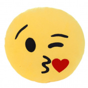 ClickHappiness Emoji Smiley Emoticon Yellow Round Cushion Pillow Stuffed Plush Soft Toy