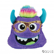 30cm Plush Monster Pillow (Purple) - Cute Girl Boy Bedroom Livingroom