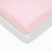 Pindaboo Pack N Play Playard Fitted Sheet, Pink & White