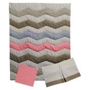 Trend Lab Cocoa Coral 3pc Crib Bedding Set