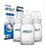 Philips Avent 3 X 260ml Triple Classic Plus+ / 9oz Bottle Baby anti colic FREE