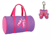 Stephen Joseph Quilted Duffle Bag and Zipper Pull Set, Ballet